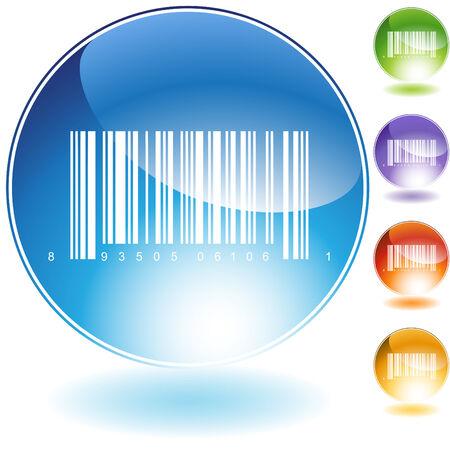 barcode crystal geïsoleerd op een witte achtergrond.