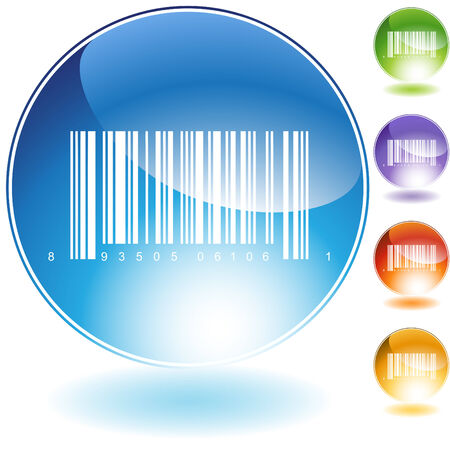 barcode crystal isolated on a white background. Stock Vector - 5807907
