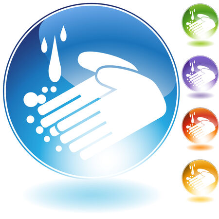 handwashing: handwashing crystal isolated on a white background.