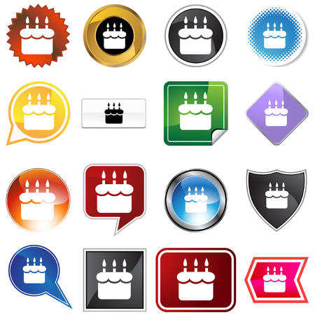 birthday cake isolated on a white background. Stock Vector - 5807956