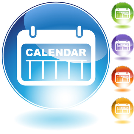 date calendar isolated on a white background. Stock Vector - 5807946