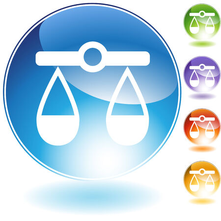 justice scale isolated on a white background. Ilustrace