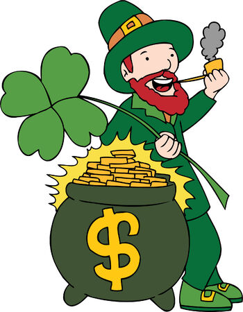Bearded Leprechaun isolated on a white background. Stock Vector - 5807936