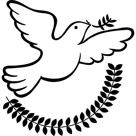 Peace Dove isolated on a white background. Imagens - 5807916