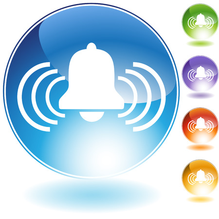 alarm crystal icon isolated on a white background.