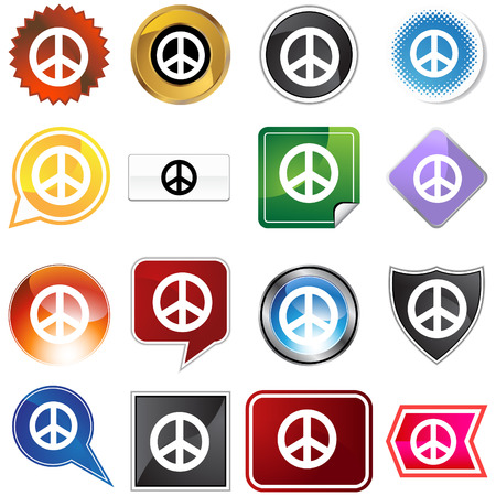 peace icon isolated on a white background.