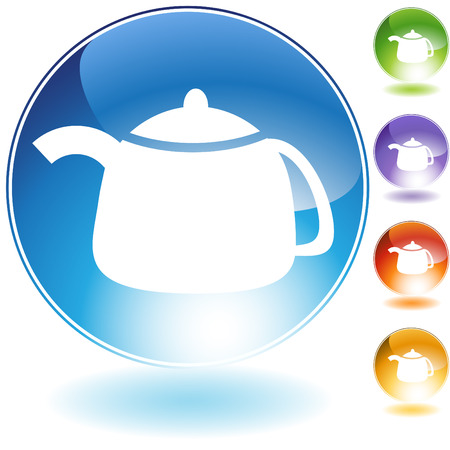 teapot crystal icon isolated on a white background.