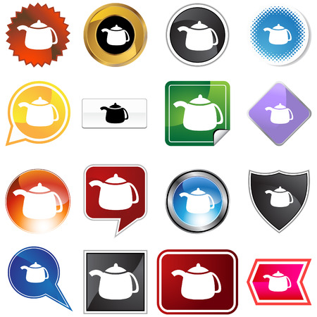 teapot variety icon  isolated on a white background. Vector