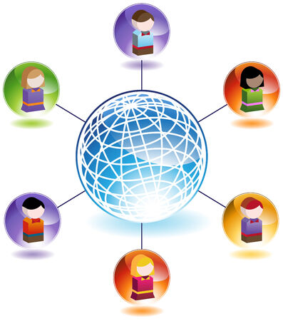 Child Network isolated on a white background. Vector