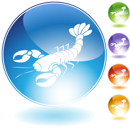 lobster crystal icon isolated on a white background.