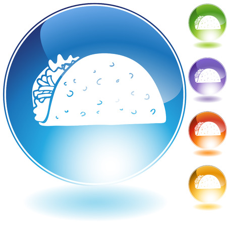 taco: taco crystal icon isolated on a white background.