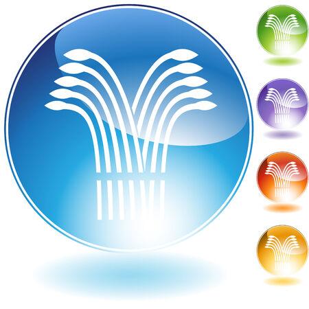 Wheat crystal icon isolated on a white background. Ilustracja