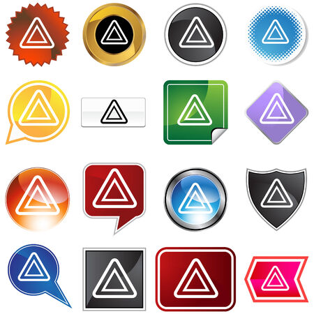 dashboard: Hazard icon set isolated on a white background.