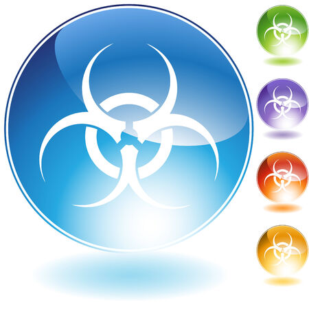 Biohazard isolated on a white background.