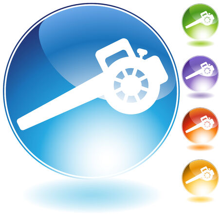 Lawn blower crystal icon isolated on a white background. Vector