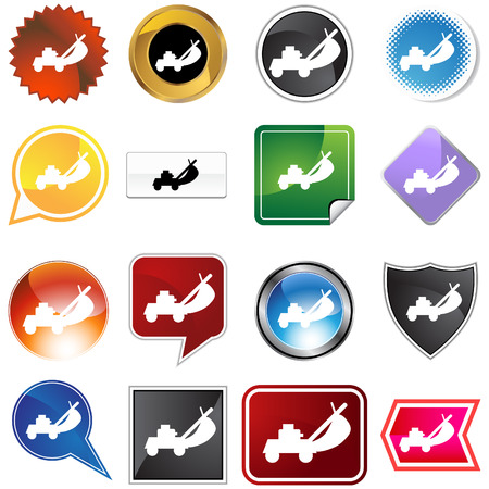 Lawnmower icon set isolated on a white background. Stock Vector - 5918876