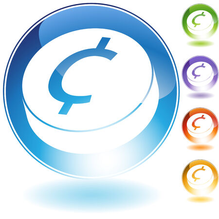 Change crystal icon isolated on a white background.