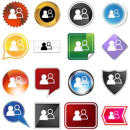 Social network icon set isolated on a white background.