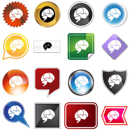 Brain variety set isolated on a white background. Stock Vector - 5934763