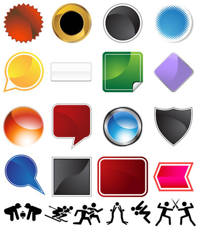 Competitive sports variety set isolated on a white background. Illustration