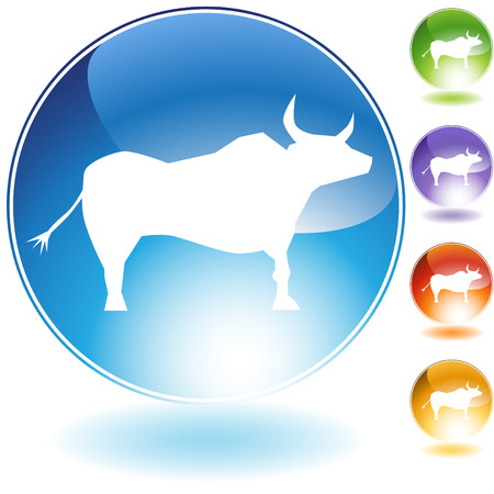 Ox crystal icon isolated on a white background.