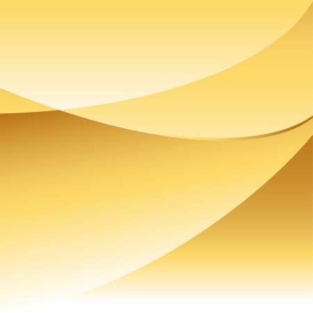 curving: Abstract gold background with curving overlapping shapes with room for copy. Illustration