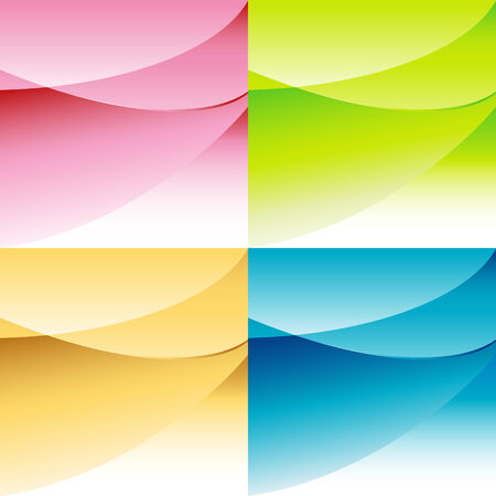 curving: Abstract background set with curving overlapping shapes with room for copy.