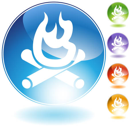 campfire crystal icon isolated on a white background.