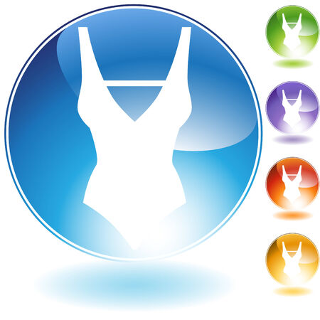 Swimwear crystal icon isolated on a white background. Stock Illustratie