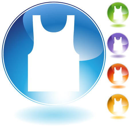 tanktop: Tanktop crystal icon isolated on a white background. Illustration