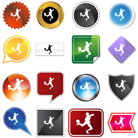 web icons: Soccer variety set isolated on a white background.