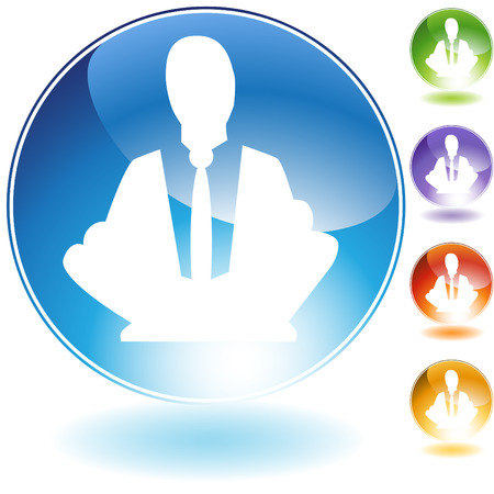 meditation isolated white: Meditation concept crystal icon isolated on a white background. Illustration