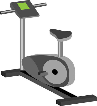 Cycling machine isolated on a white background. Illustration
