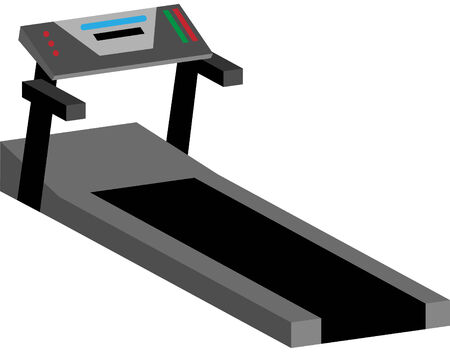 Treadmill machine isolated on a white background.