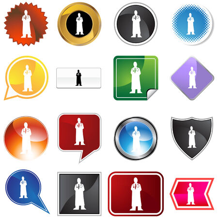 Physician variety set isolated on a white background. Stock Vector - 6059648