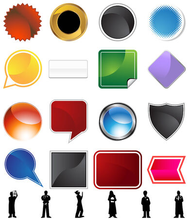 Physician variety set isolated on a white background. Stock Vector - 6059637