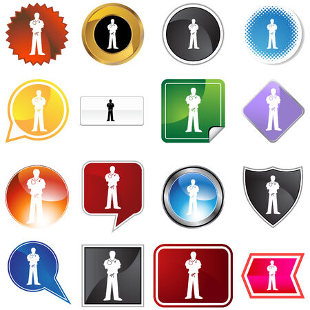 Scrubs variety set isolated on a white background. Stock Vector - 6059644