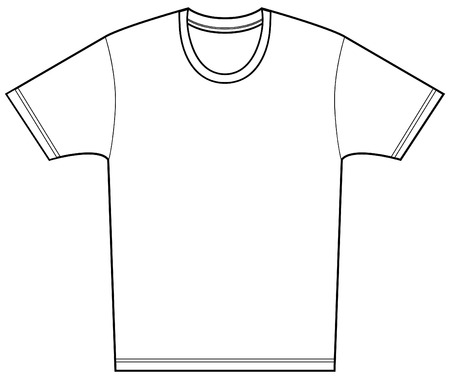 t short: Tee shirt isolated on a white background. Illustration
