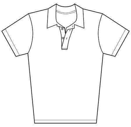 白い背景で隔離のポロシャツ。