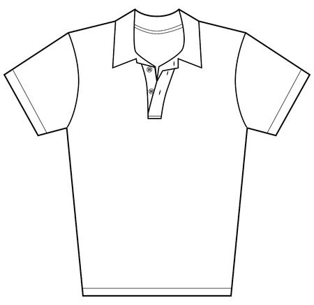 in shirt: Camisa de Polo aislado en un fondo blanco.