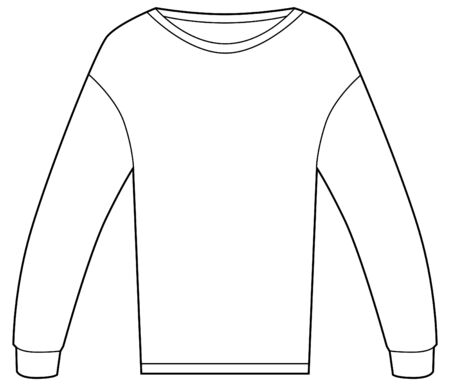 Thermal shirt isolated on a white background. Illustration