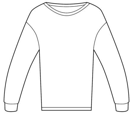 Thermal shirt isolated on a white background. Ilustração