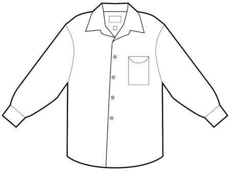 business shirts: Camisa de vestir de negocio aislado en un fondo blanco.