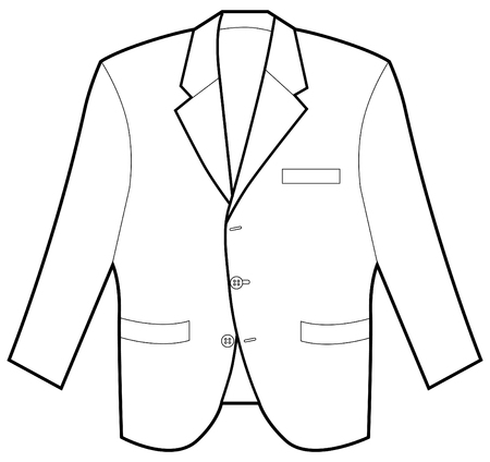 Business jacket isolated on a white background.