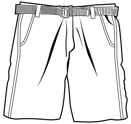 Pair of shorts isolated on a white background.