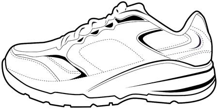テニス靴、白い背景で隔離されました。  イラスト・ベクター素材