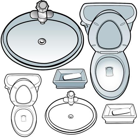 lavabo: Soapdish de receptor de inodoro aislado en un fondo blanco.