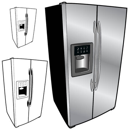 refrigerator: refrigerator isolated on a white background.