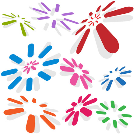 Connectivity dots isolated on a white background. Stock Vector - 6288673