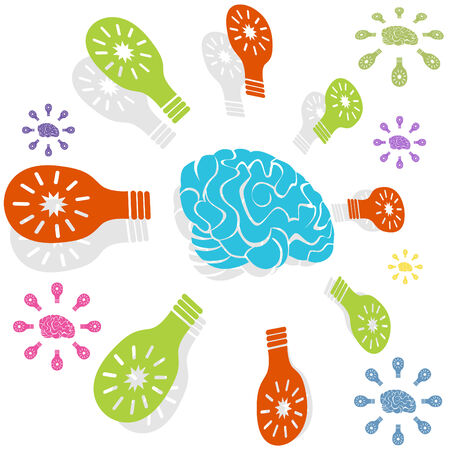 smart: Brain idea icon isolated on a white background.